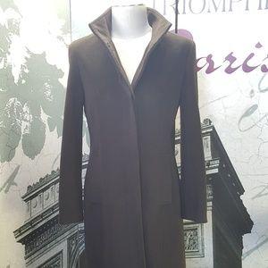 Calvin Klein Angora & Wool Blend Trench Coat